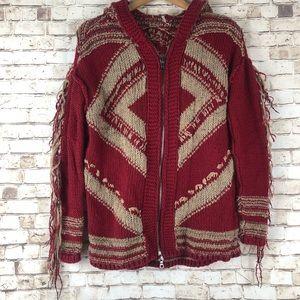 Free People Fringe Sweater Hoodie